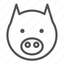 animal, avatar, pig, pork icon