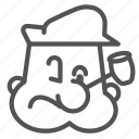 avatar, cartoon, man, poppey, sailor icon