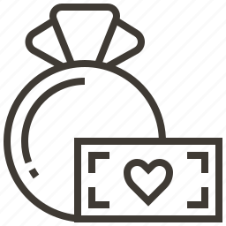 bag, donate, heart, money icon