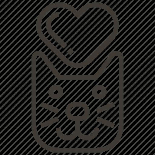 animal, cat, heart, pet icon