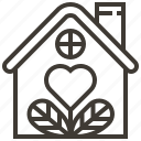 heart, home, house, love icon