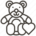 heart, love, stuffed animal, teddy bear icon