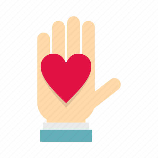 care, hand, heart, help, human, logo, love icon