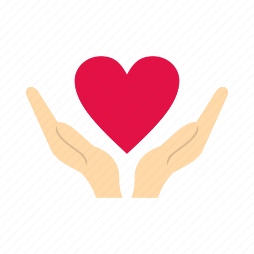 arm, care, charity, family, finger, hand, heart icon