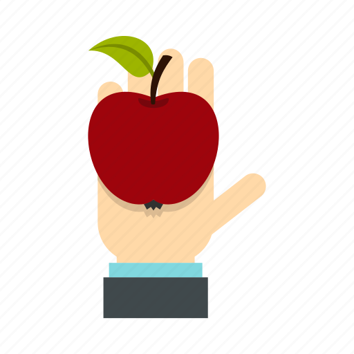 Apple, diet, food, fruit, hand, health, nutrition icon - Download on Iconfinder