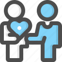 give, giving, provider, fundraiser, heart, money, provide icon