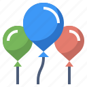 balloon, birthday, bump, decoration, ornament, party, technology icon