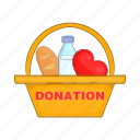 box, grocery, food, assistance, donation, donate, cartoon