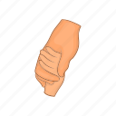 cartoon, gesture, hand, people, strife, two, unity icon