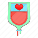 aid, bag, blood, cartoon, concept, donor, medical icon
