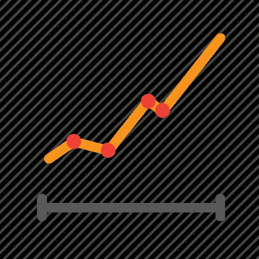 analysis, chart, graph, grow, linke, statistic icon