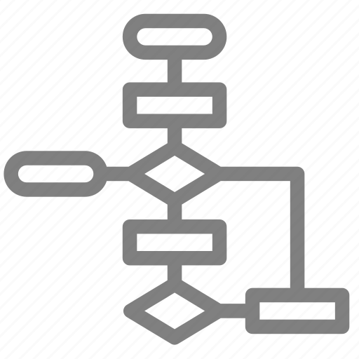 chart, diagram, flow icon