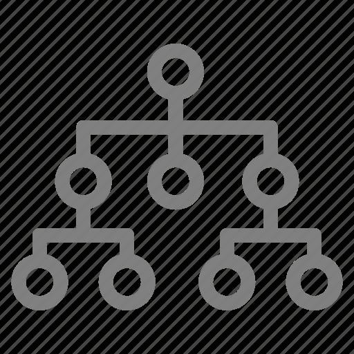 chart, diagram, flow, path icon