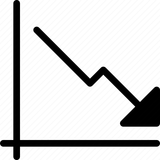 chart, decreasing, graph, report, statistics icon