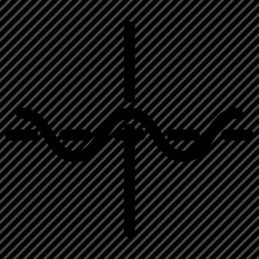 graph, report, sine, sinus, waves icon