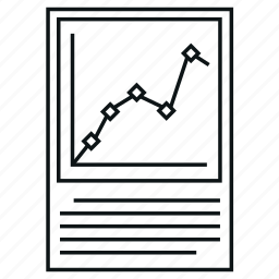 analytics, business, chart, diagram, graph, report, scatter chart icon