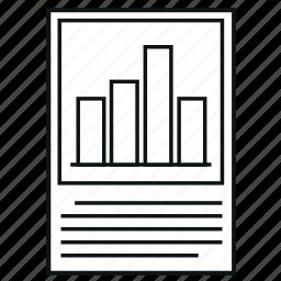 analytics, bar chart, chart, diagram, histograms, report icon
