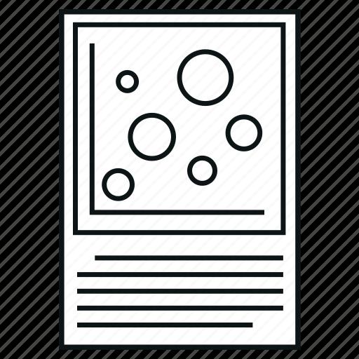 bubble chart, chart, diagram, report icon