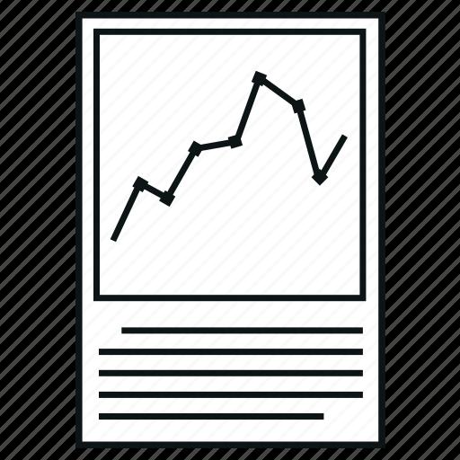 chart, diagram, plot, report icon
