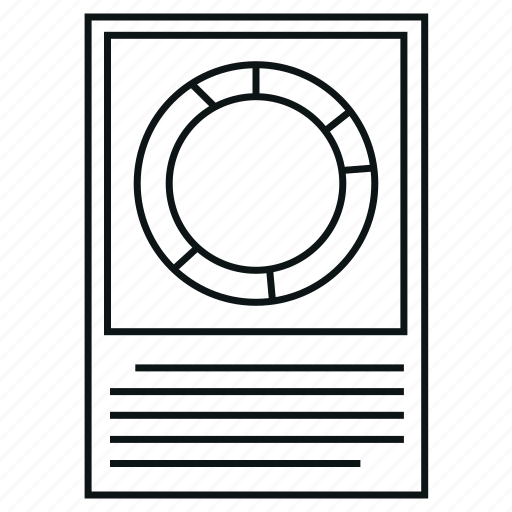 analytics, chart, diagram, donut chart, graph, presentation, report icon