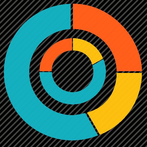 chart, circle, diagram, infographic, pie, report, statistics icon