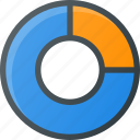 analytics, chart, circle, donut, infographic, insight, presentation icon