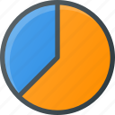analytics, chart, fragment, infographic, insight, pie, presentation icon