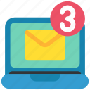 chat, communication, email, laptop, mail, message, social icon