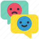 chat, communication, emoji, message, smile, social, stickers icon