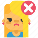 chat, communication, girl, ignore, sad, social, woman icon