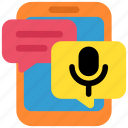 chat, communication, message, phone, smartphone, social, voicemail icon