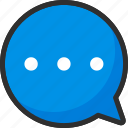 box, bubble, chat, message icon