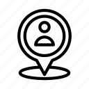 location, map, marker, pin, user