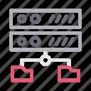database, directory, filesharing, server, storage icon