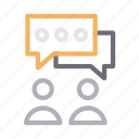 chat, communication, conversation, discussion, users icon