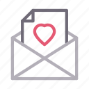 email, favorite, heart, inbox, message icon