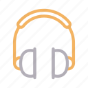 audio, headphone, headset, music, support icon