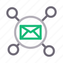 communication, connection, email, inbox, message icon