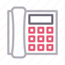 communication, landline, receiver, talk, telephone icon
