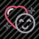 emoji, favorite, like, love, smiley icon