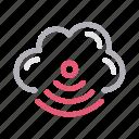 cloud, communication, signal, wifi, wireless icon