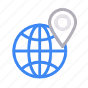 earth, global, location, map, world icon