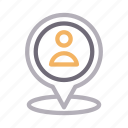 location, map, marker, pin, user icon