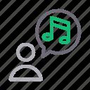 media, music, notification, profile, user icon