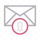 email, inbox, lock, message, private icon