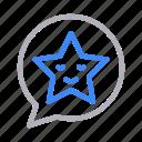 bubble, emoji, emoticon, message, smiley icon