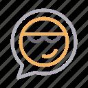 bubble, communication, emoji, message, smiley icon