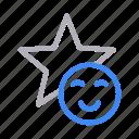 emoji, favorite, reaction, smiley, starred icon