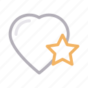 favorite, heart, like, star, starred icon