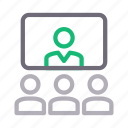 call, communication, conference, screen, video icon